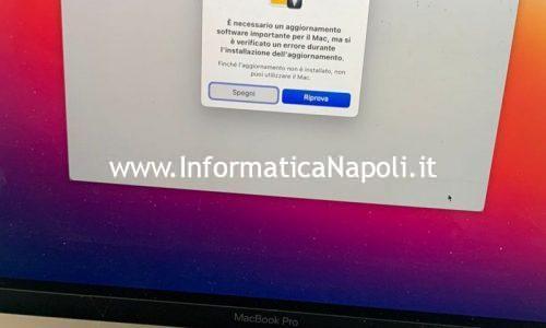MacBook Pro Touch bar non si avvia o mostra problemi di aggiornamento | critical updates