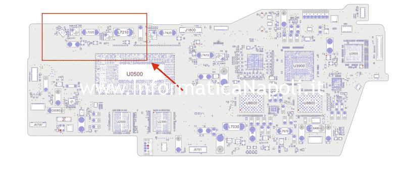 schema elettrico boardview MacBook Pro 2019 modello 2 porte Thunderbolt 3 A2159 820-01598-A