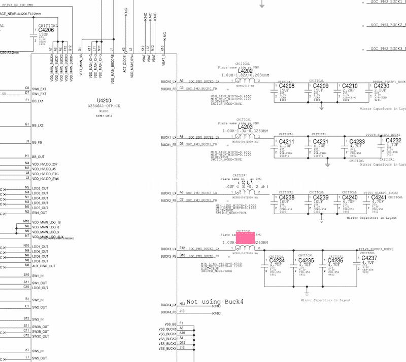U4200 e componenti da testare a1707 macbook pro 15 touch bar