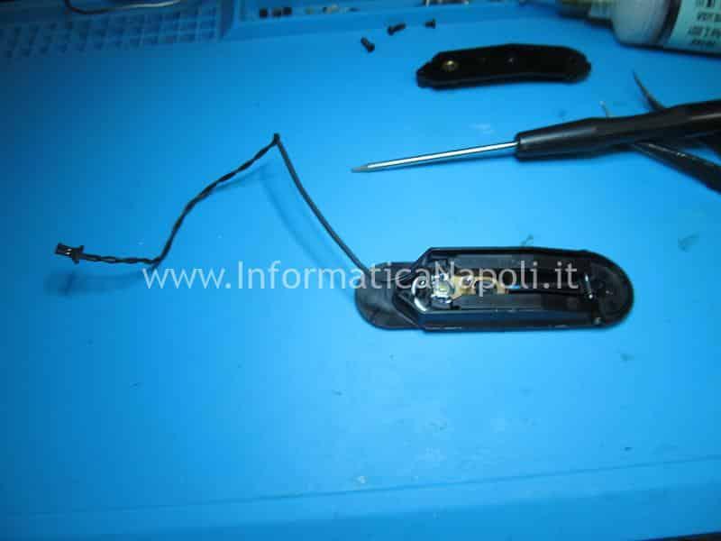 spudger smontaggio bottone accensione powerbutton imac